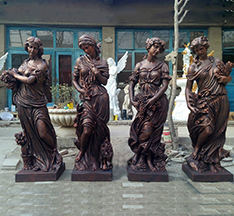 Hot sale four season fairy sculpture for outdoor decoration