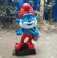 Wholesale cartoon character The Smurfs statue