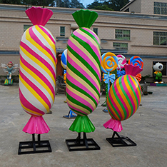 Hot sale resin candy statue for mall and shop decoration
