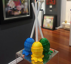 Indoor art display fiberglass lollipop statue