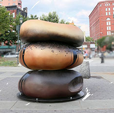 Life size food model Bagel staute for outdoor decoration