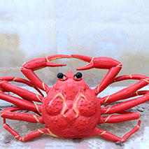Red life size crab statue for restaurant decoration