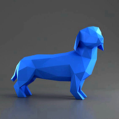 Abstract art decoration fiberglass dog statue