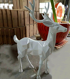 Christmas decoration fiberglass deer statue