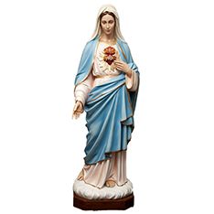 Western saint fiberglass virgin Mary statue