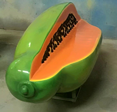 Indoor decoration resin fruit model bench statue