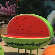 Polyresin fruit model Watermelon bench staute