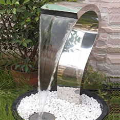 stainless steel modern outdoor garden water feature