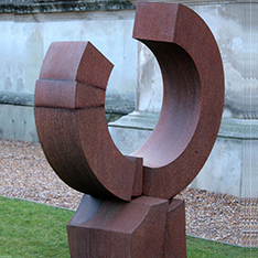 Large outdoor garden corton steel sculptures for sale