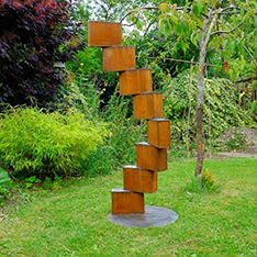 corten steel garden sculptures for sale