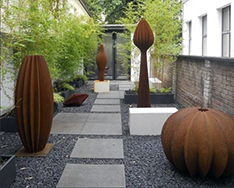 custom made different design corten steel ball07
