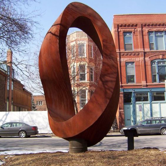 mordern abstract large sculpture corten steel art