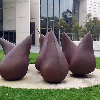 outdoor large garden corten pear sculptures