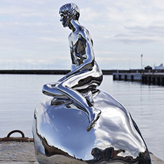 mirror shiny finishing art stainless steel figures