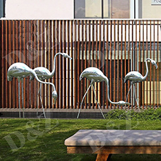 outdoor brids sculpture crane statues