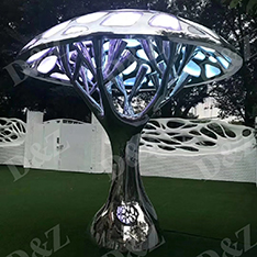 stainless steel modern decorative tree light sculpture