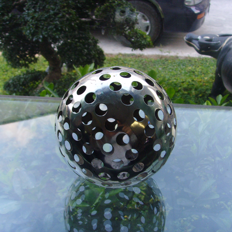 cast metal hollow sphere stainless steel mirror finishing