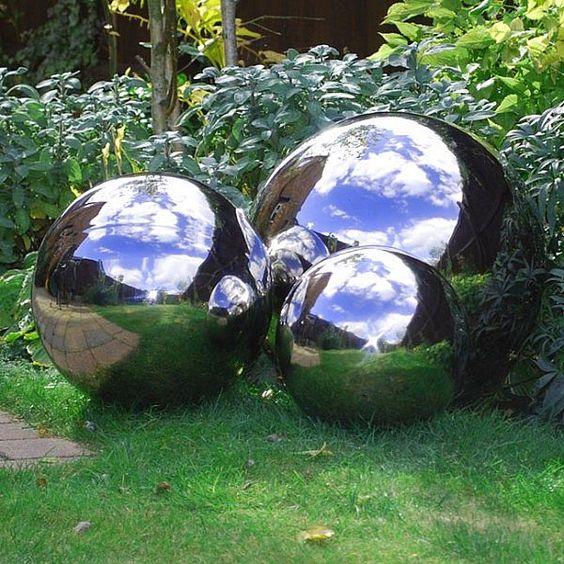 Custom Made Size Mirror Finsihing Metal Garden Spheres