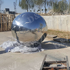stainless steel sphere and base