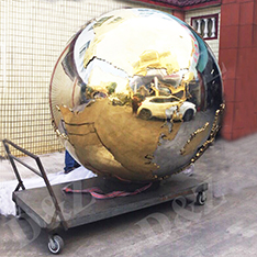 stainless steel with maps of the ball